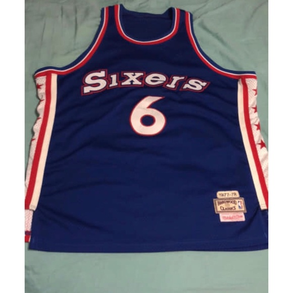 lowest price fc1e3 ade39 Mitchell and Ness Sixers jersey.